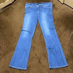 Express boot cut jeans.